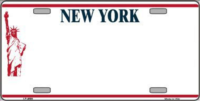 New York Novelty State Background Blank Metal License Plate LP-4609