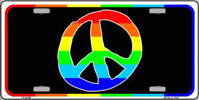 Peace Sign Metal Novelty License Plate LP-4748