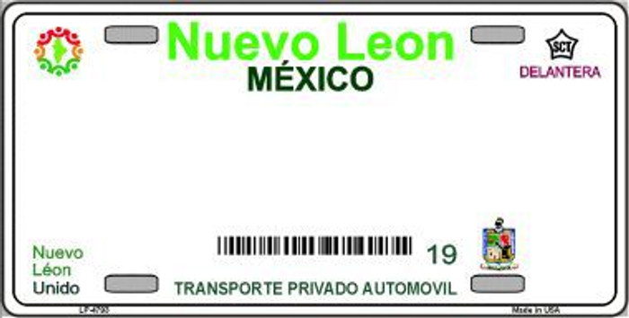 Nuevo Leon Mexico Background Novelty Metal License Plate LP-4793