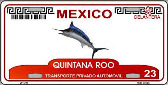 Quintana Roo Mexico Novelty Background Metal License Plate LP-4796
