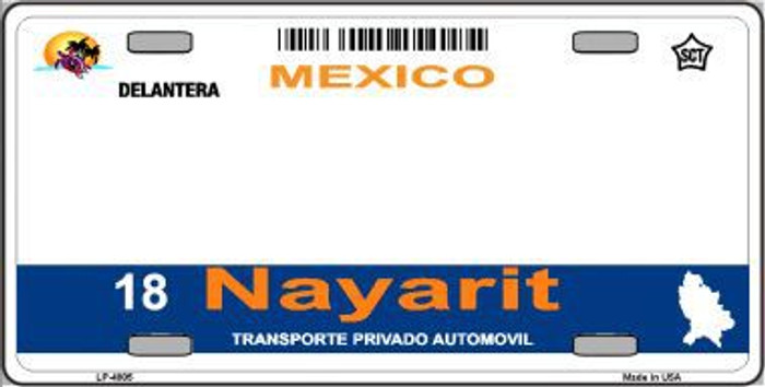 Nayarit Mexico Novelty Background Metal License Plate LP-4805