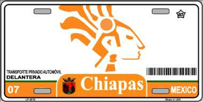 Chiapas Mexico Novelty Background Metal License Plate LP-4810