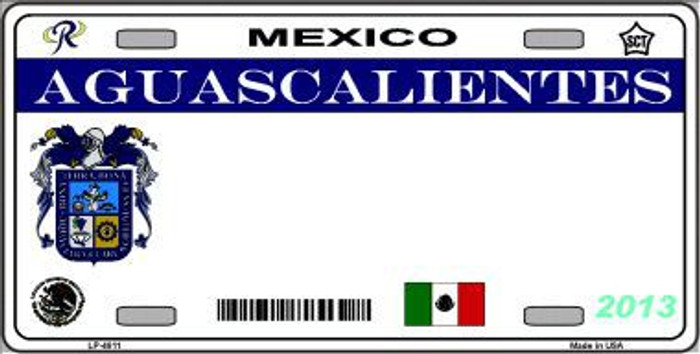 Aguascalientes Mexico Novelty Background Metal License Plate LP-4811