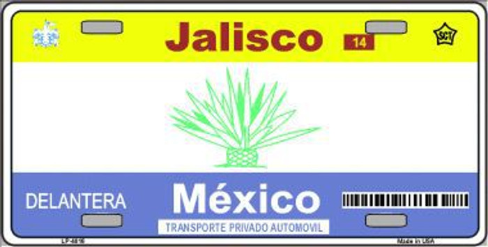Jalisco Mexico Novelty Background Metal License Plate LP-4816