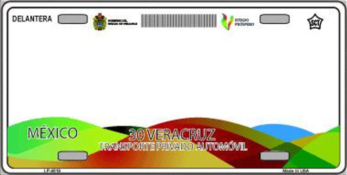 Veracruz Mexico Novelty Background Metal License Plate LP-4819