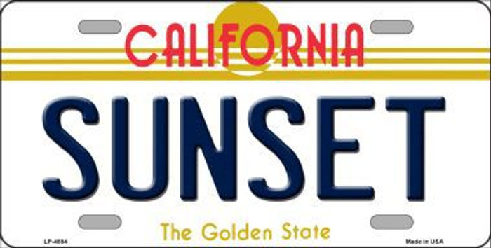 Sunset California Novelty Metal License Plate LP-4884