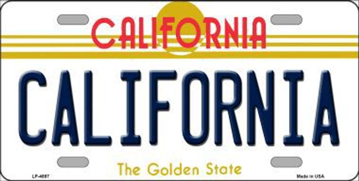 California Novelty Metal License Plate LP-4897