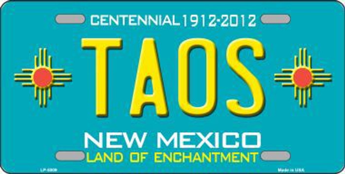 Taos Teal New Mexico Novelty License Plate LP-5009