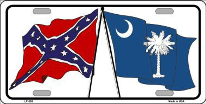 Confederate South Carolina State Flag Metal Novelty License Plate LP-508