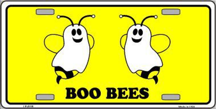 Boo Bees Metal Novelty License Plate