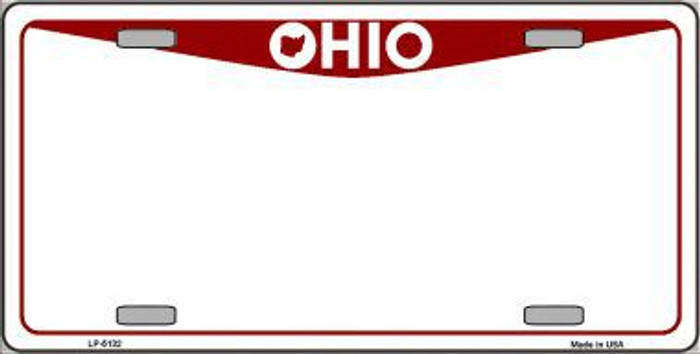 Ohio Novelty State Background Blank Metal License Plate LP-5132