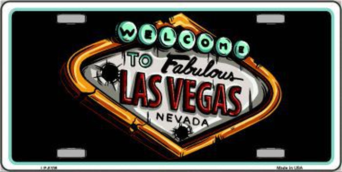 Welcome To Las Vegas Novelty Metal License Plate LP-5136