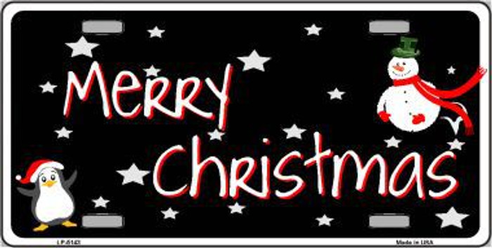 Merry Christmas Metal Novelty License Plate