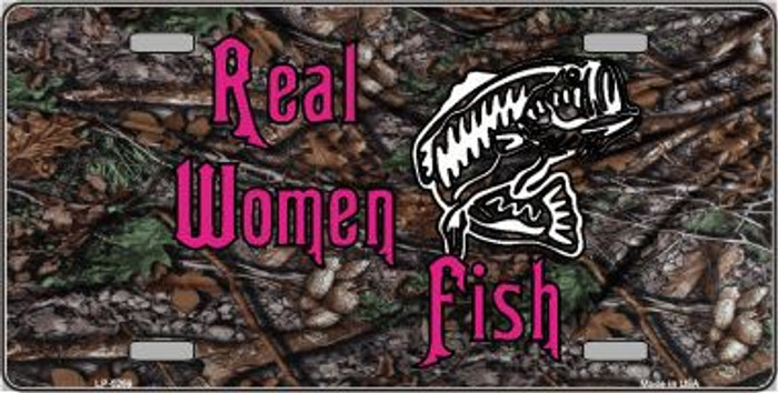 Real Women Fish Metal Novelty License Plate LP-5269