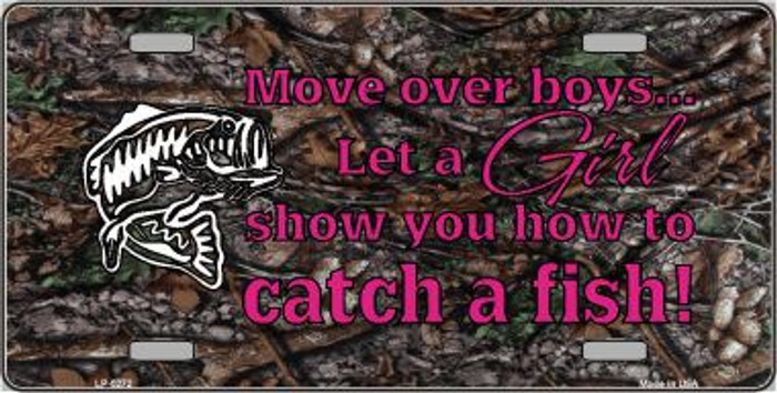 Move Over Boys Metal Novelty License Plate LP-5272