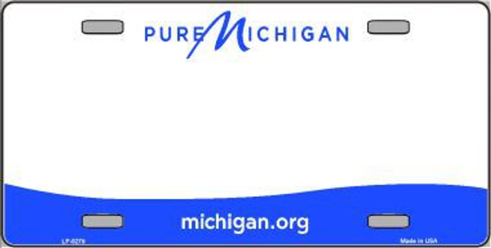 Michigan Novelty State Background Blank Metal License Plate LP-5279