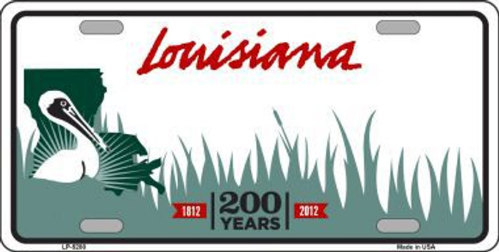 Louisiana Novelty State Background Blank Metal License Plate LP-5280