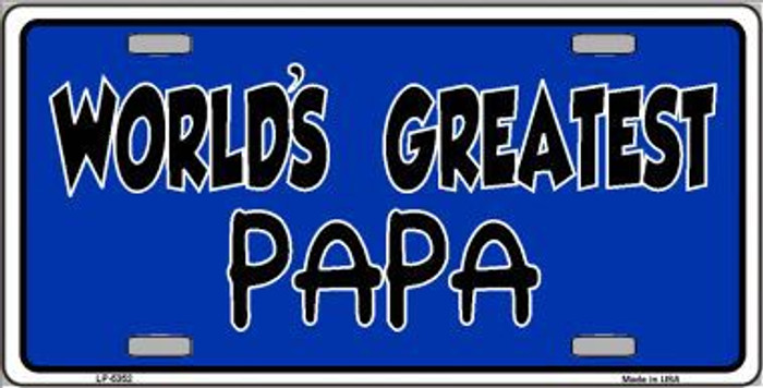 Worlds Greatest PaPa  Metal Novelty License Plate LP-5352