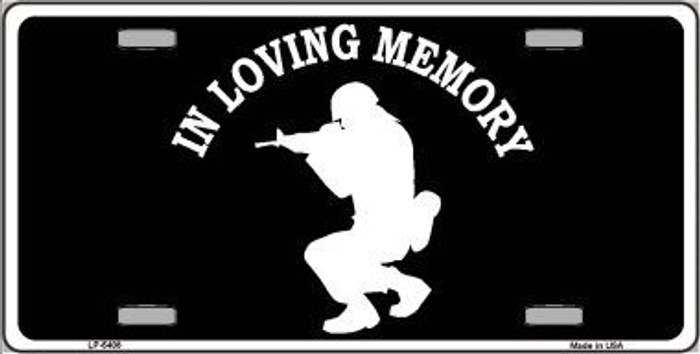 In Loving Memory Squatting Novelty Metal License Plate