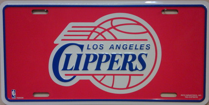Los Angeles Clippers Metal Novelty License Plate