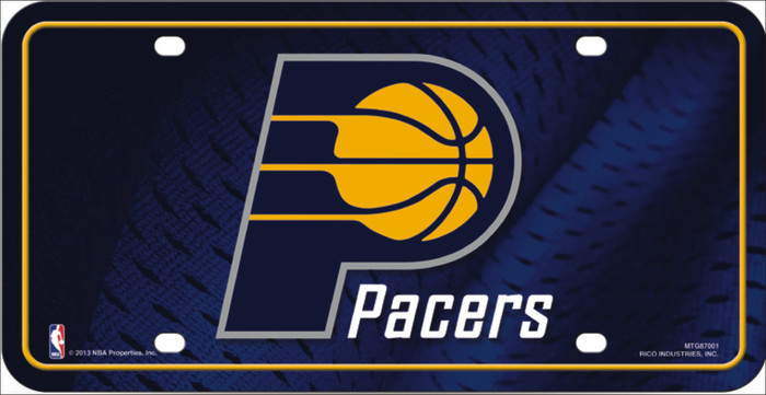 Indiana Pacers Metal Novelty License Plate LP-687