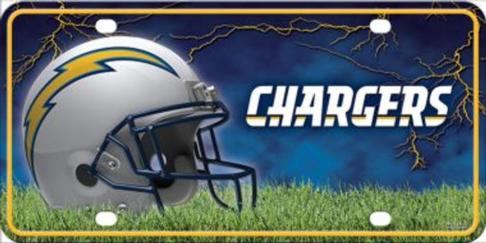 Los Angeles Chargers Metal Novelty License Plate
