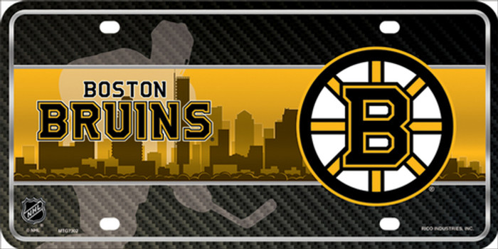 Boston Bruins Metal Novelty License Plate