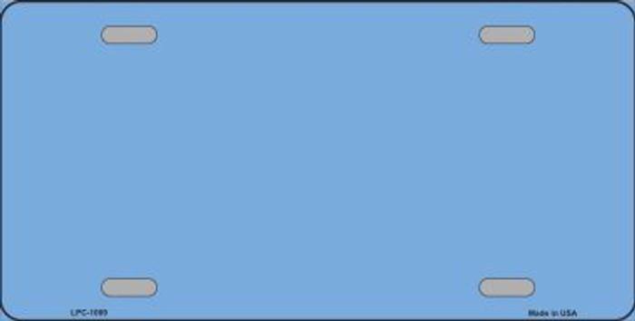 Light Blue Metallic Solid Background Metal Novelty License Plate