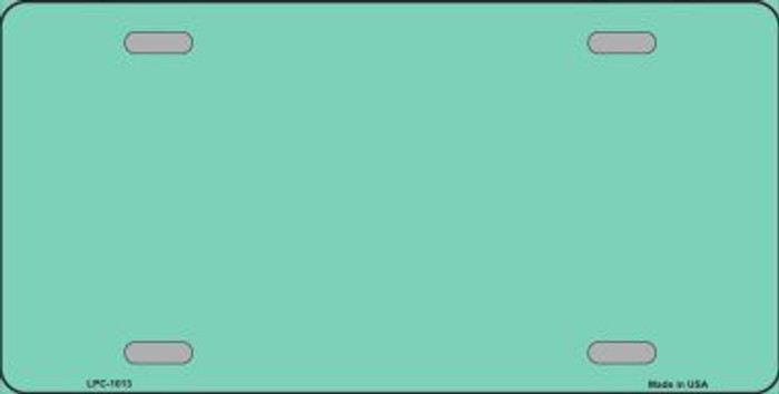Teal Metallic Solid Background Metal Novelty License Plate