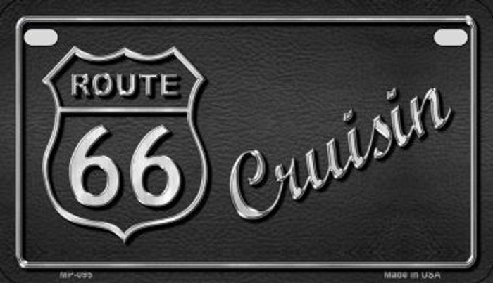 Route 66 Cruisin Metal Novelty Motorcycle License Plate