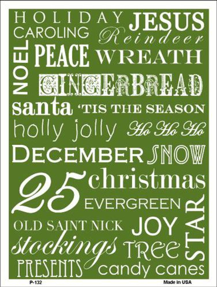 Green Holiday Wrap Pattern Metal Novelty Parking Sign