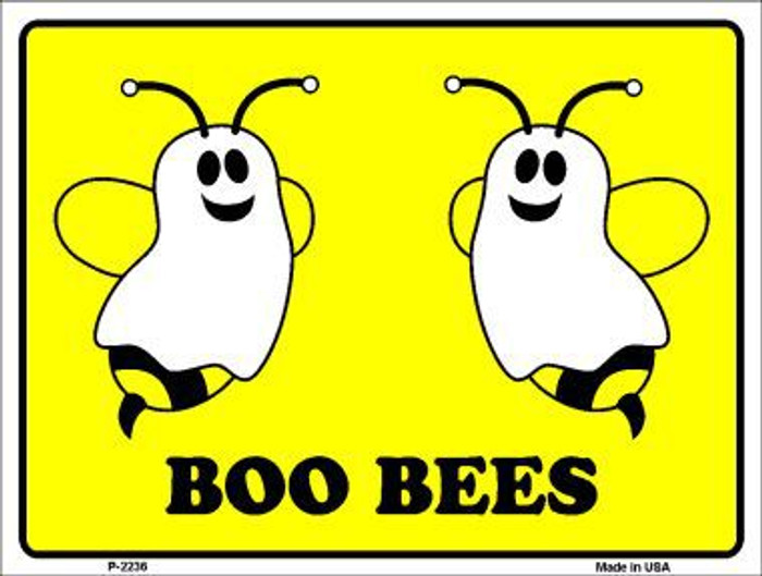 Boo Bees Metal Novelty Parking Sign P-2236