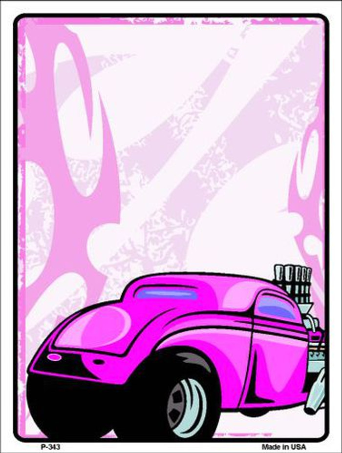 Classic Hot Rod Metal Novelty Parking Sign