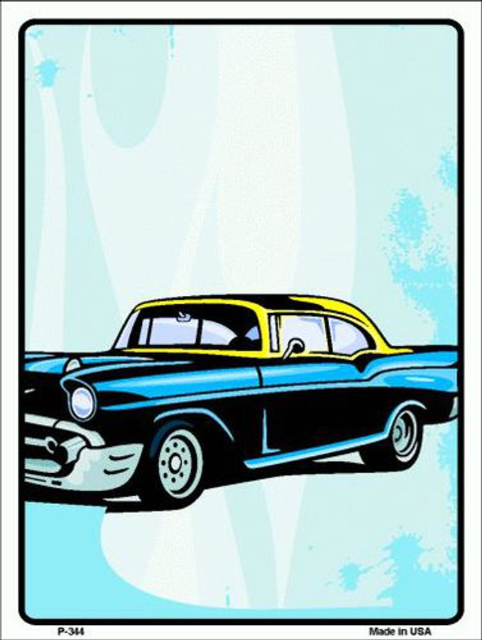 Classic Car Chevy Metal Novelty Parking Sign