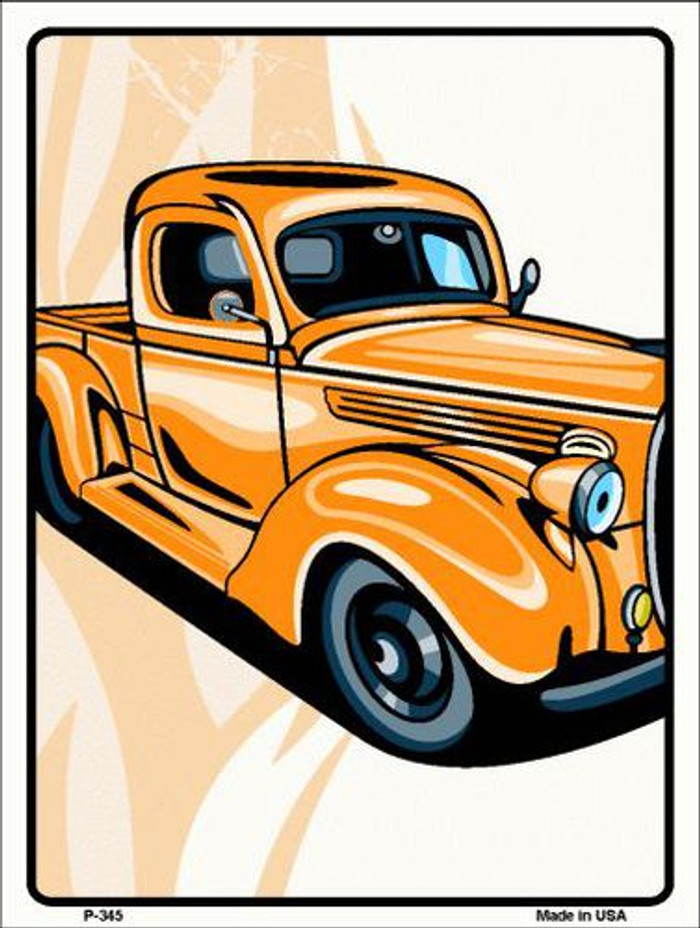 Classic Truck Metal Novelty Parking Sign P-345