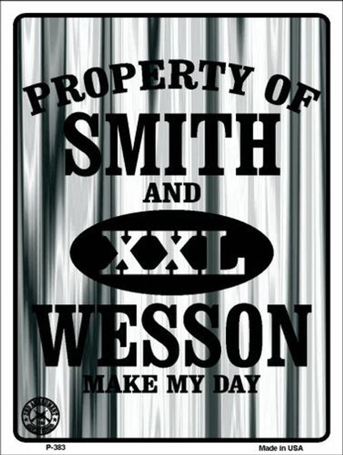 Smith and Wesson Metal Novelty Parking Sign P-383