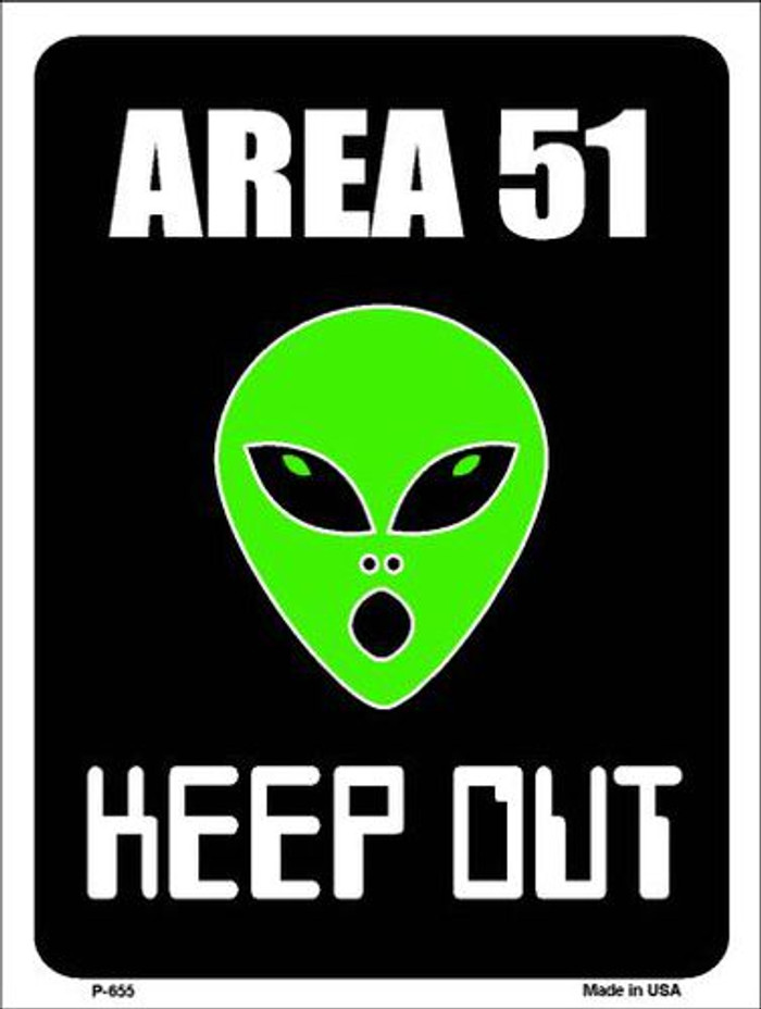 Area 51 Keep Out Metal Novelty Parking Sign P-655