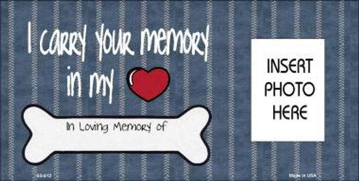 Your Memory Photo Insert Pocket Metal Novelty Small Sign