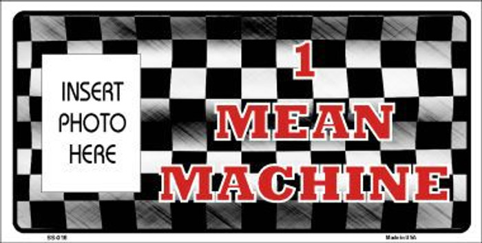 Mean Machine Photo Insert Pocket Metal Novelty Small Sign