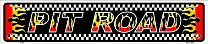 Pit Road Racing Flames Metal Novelty Street Sign ST-014