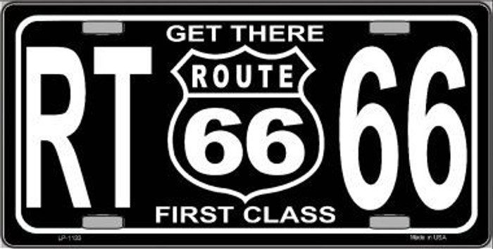 Get There 1st Class Novelty Metal License Plate