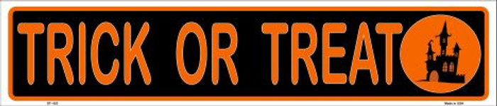 Trick Or Treat Metal Novelty Street Sign