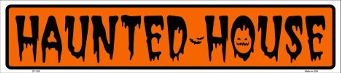 Haunted House Metal Novelty Street Sign