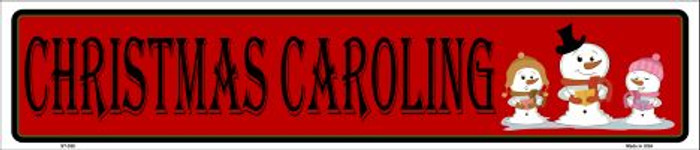 Christmas Caroling Metal Novelty Street Sign