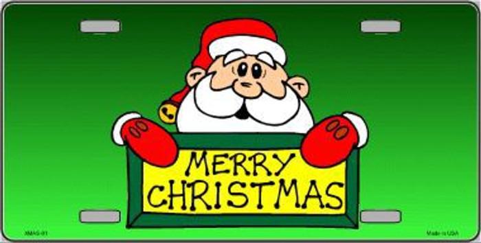 Merry Christmas Santa Metal Novelty License Plate XMAS-01