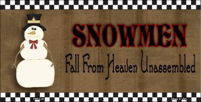 Snowmen Fall From Heaven Metal Novelty License Plate XMAS-24