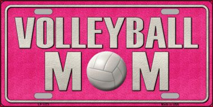 Volleyball Mom Novelty Metal License Plate