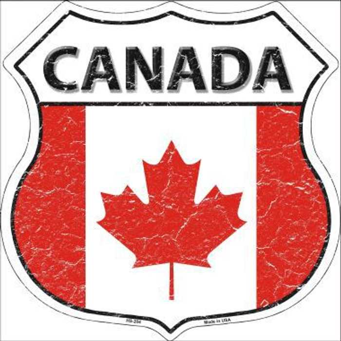 Canada Country Flag Highway Shield Metal Sign