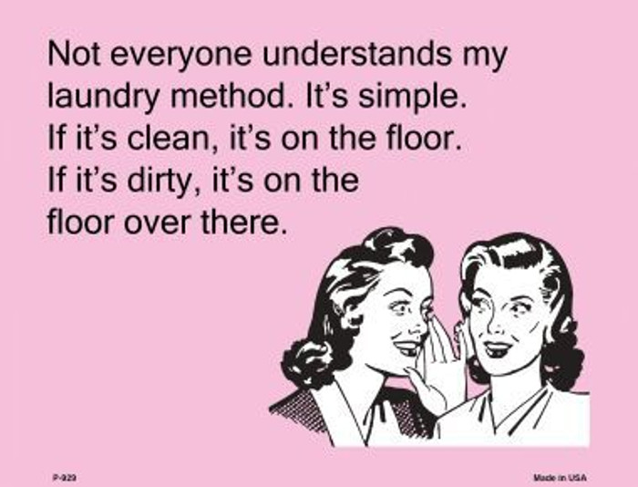 Not everyone understands my laundry method E-Card Metal Novelty Parking Sign