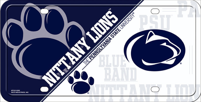 Penn State Deluxe Novelty Metal License Plate